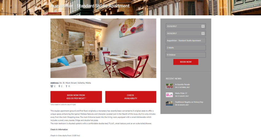 Valletta Boutique Living - Inner Page Accommodation